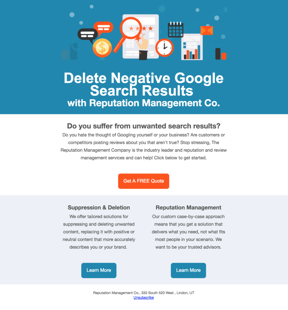 Delete Negative Search Results