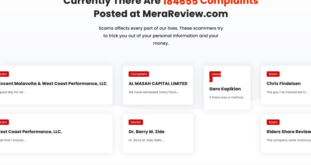 Mera Review Latest Complaints